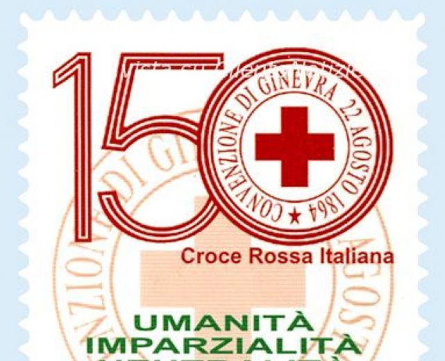 Elicottero Croce Rossa Italiana : Francobollo celebrativo della croce rossa italiana