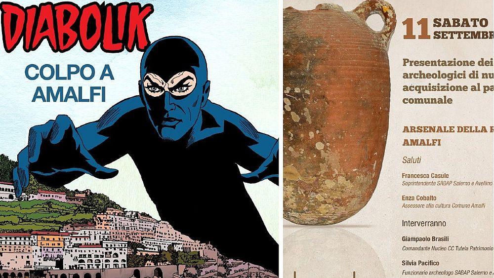 """Amalfi, un albo speciale di """"Diabolik"""" celebra il recupero di reperti  archeologici dai fondali della Costiera - Cilento Notizie"""
