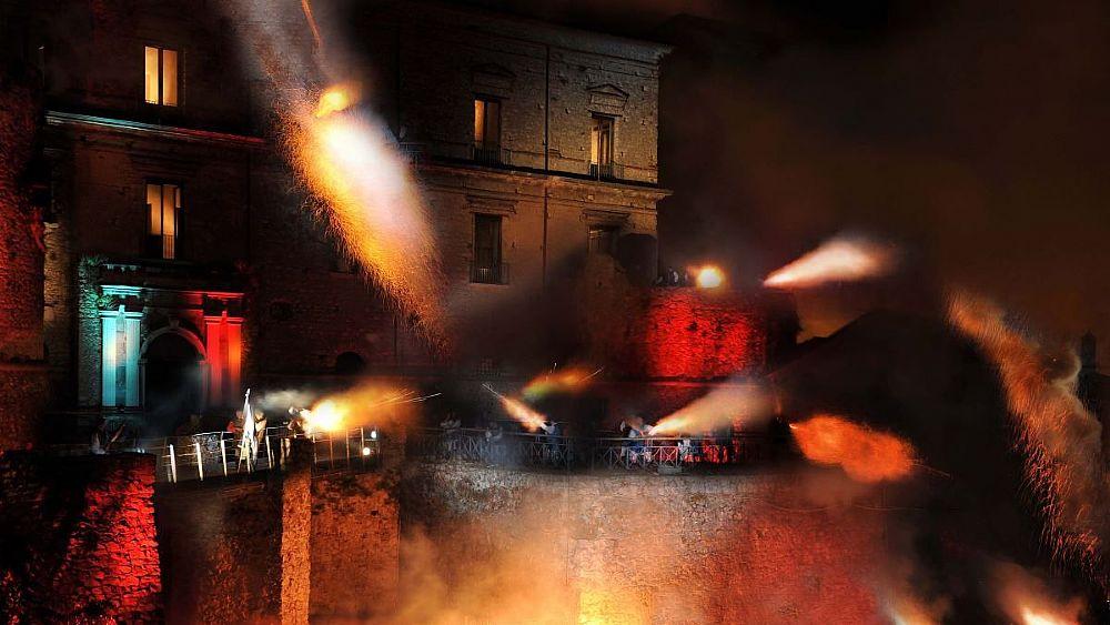 09082018 assalto al castello di teggiano