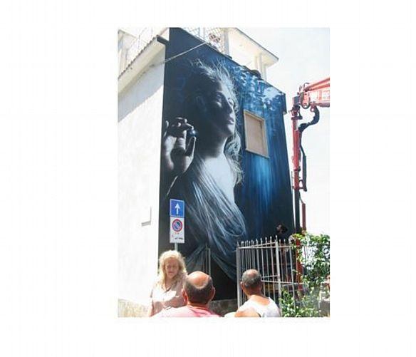 Marisa-Russo foto - 10062017 murale artistico castellabate