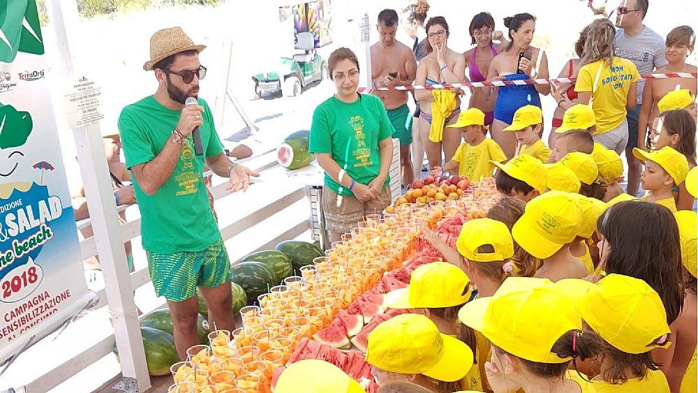 Risultati immagini per Partono giovedì da Paestum le tappe Campane di Fruit&Salad on the Beach