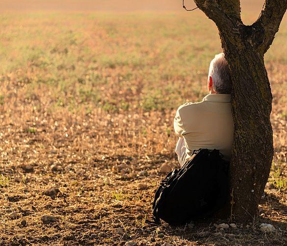 Giuseppe-Lembo foto - 13122017 uomo solo albero