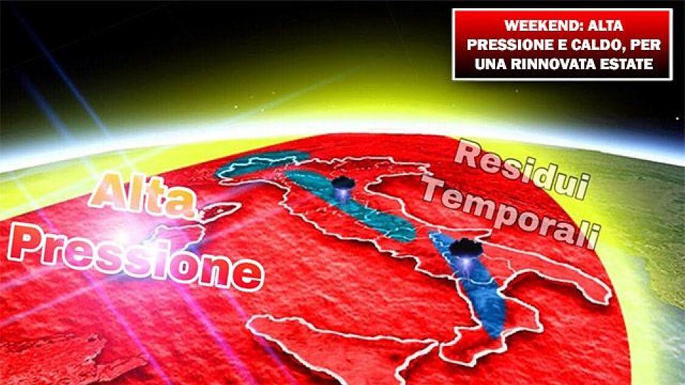 14092018 METEO weekend alta pressione caldo per una rinnovata estate 14918