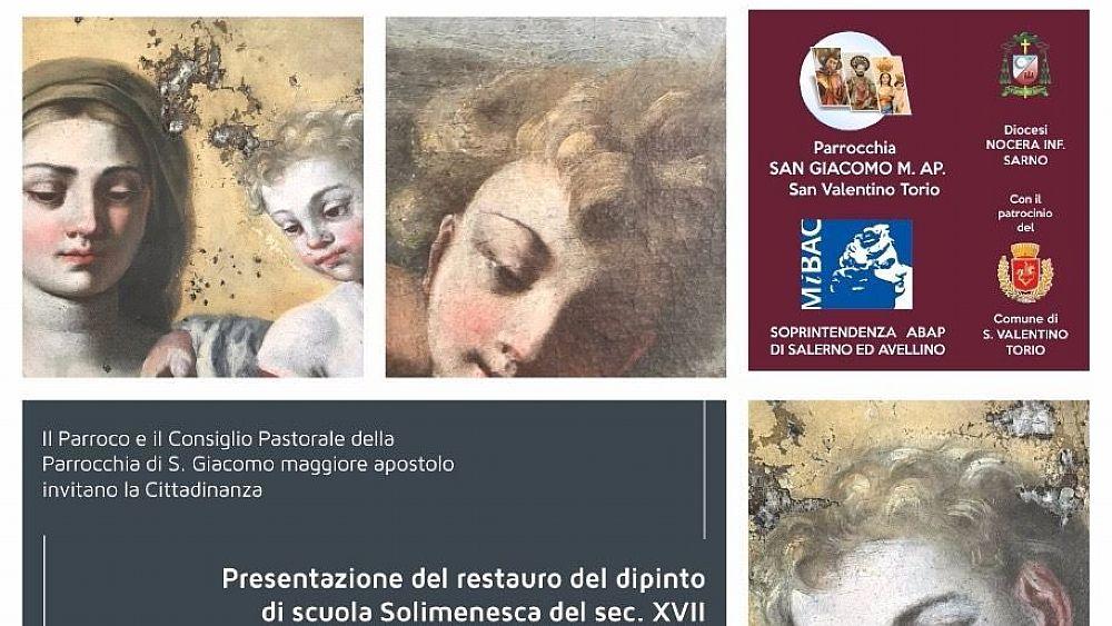 Risultati immagini per Madonna con Bambino e anime purganti SOLIMENESCA