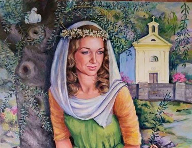 Marisa-Russo foto - 21052017 quadro di elena vilkov madonna della pace