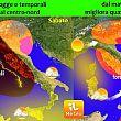 Evoluzione meteo nel fine settimana, ad Ottobre prima irruzione di aria fredda